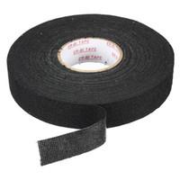 Vente en gros-haute qualité Force adhésif de haute qualité Câblage Noir Harnais Harnais Tissu Tissu Tissu Tissu Tissu Toile Loom 25mmx25M Facile à utiliser