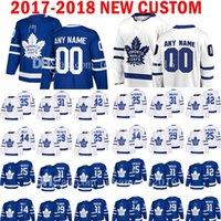 Personnalisé 2018 Toronto Maple Leafs 25 James van Riemsdyk 31 Frederik Andersen Jersey 42 Tyler Bozak 44 Morgan Rielly William Nylander Jersey VC