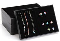 Atacado Barato 9 Seletor de Estilo / Lote de 3 Charm Jewelry Display Case Bandeja / Display / Colar Anel Pingente