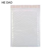 Al por mayor-300 Unids / pack, 180 * 230 mm Blanco Película de la Perla Bubble Envoltura Bolsas de Mensajero Bolsas de Correo de Embalaje A Prueba de agua