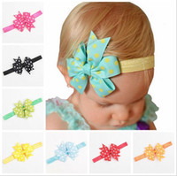 24 Colors Baby Kids Grosgrain Dovetail Ribbon Bow Headbands ...