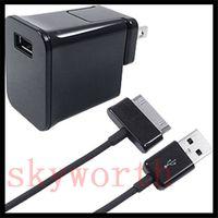 AC EV SEYAHAT DUVAR ŞARJ GÜCÜ ADAPTÖRÜ + USB KABLO KABLO SAMSUNG GALAXY TAB için 2 3 4 S Bir TABLET PC