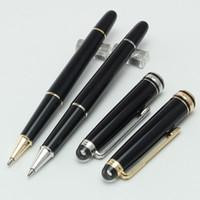 Роскошные MT163 классический Маунт черный смолы ролик шариковая ручка школа канцелярские горячие продать бренд писать милые ручки подарок