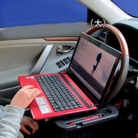 Atacado 100 PCS Car Steering Wheel Bandeja Notebook Bebidas Titular Útil Interior Do Carro Estiva Tidying Acessórios Personalizados