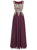 2016 Elegant A- line Scoop Sleeveless Long Evening Dress Vest...