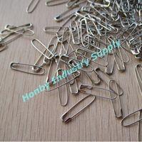 paquete de 2000 U en forma de 22 mm de níquel (plata) francés Coiless Safety Pins bueno para colgar etiquetas de prendas de vestir