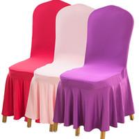 웨딩 파티 의자 커버 식사 의자 시트 커버를 들어 의자 커버 식사 (13) 단색 폴리 에스터 스판덱스