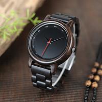 Gli orologi di legno degli uomini classici di BOBO BIRD con gli orologi del regalo maschio di alta qualità possono cadere il trasporto