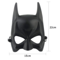 1 unids Hot Halloween Batman Mask Adultos Negro Masquerade Party Carnival Dressing superior media mascarilla para hombre Cool Face Costume Kit