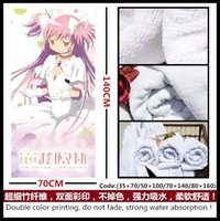Anime / Puella Magi Madoka Magica Kaname Madoka / Akemi Homura / Tomoe Mami / Miki Saya asciugamano asciugamano morbido e confortevole / bagno / rifornimenti quotidiani / presente