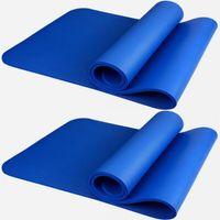 Йога 10 мм Толщина NBR йога коврик для начинающих фитнес используется коврик гибкий Нескользящий коврик для упражнений экологический коврик для йоги без запаха