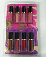 Più nuovo cosmetici opaco rossetto 8pcs Lip Gloss Set marca di alta qualità Lipgloss all'ingrosso set DHL spedizione