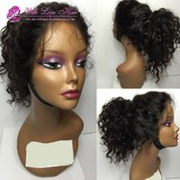 Hot Withlovehair Handmade Curly Synthetic Wigs Glueless Blac...