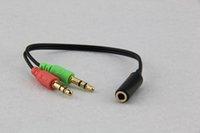 Yüksek Kalite 3.5mm Uzatma Kulaklık Kulaklık Ses Splitter Kabloları Adaptörü Kadın için 2 Erkek Toptan AUX Kablosu