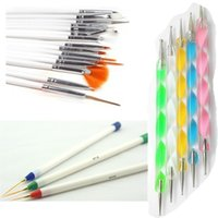 23 Adet Nail Art Manikür Akrilik Jel UV Fırça Süsleyen Liner Fin Tasarım Resim Çizim İpuçları Lehçe Kalem Araçları Set