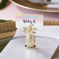 Free Shipping 12PCS Gold Pineapple Place Card Holder Wedding...