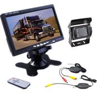"Kit de cámara de respaldo inalámbrico de la vista trasera de 12V Coche + 7 ""TFT LCD Monitor para camión / camioneta"