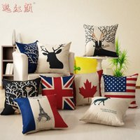 cotton pillowcasesborder European pillow covers minimalist f...