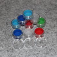 Clear 10ml acrilico di plastica e contenitore di cera di caso liquido scatola 3ml mini vaso di bho barattoli di silicone dab cera vaporizzatore contenitore di olio di silicone