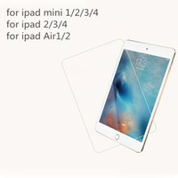 Para Apple Ipad 2/3/4 iPad 5 Air 2 Pro 9.7 12.9 pulgadas ipad Mini 1/2/3/4 Protector de pantalla de vidrio templado 9H Dureza Película protectora