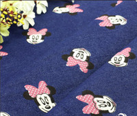 Wholesale Children' s minky Cartoon printed denim childr...