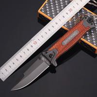 높은 품질! 브라우닝 (364 개) 접는 나이프 로프 야외 도구 캠핑 생존 사냥 칼 레드 우드 / G10 핸들 티타늄 무료 배송