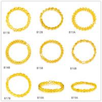 X forma de cisne redondo pulseiras de ouro amarelo 6 peças estilo misturado gtkb4, marca nova moda de alta qualidade feminina 24k pulseira de ouro