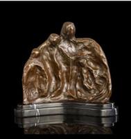 ARTES DOS ARTES DOS BRINCES Vintage ATLIE BRONZES handmade arte abstrata pura uma escultura de bronze da família morden home decor polimento de fundição a quente
