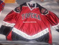 Cheap custom Topeka Scarecrows Hockey Jersey RARE USHL NHL AHL stitched  Men s hockey jersey 9c064cc7a
