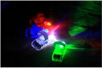 عيد الميلاد LED مصباح إصبع البنصر ضوء الوهج الليزر فنجر الشعاع LED وامض حزب فلاش خاتم لعبة طفل