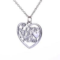 2016 new hot eu te amo mãe colar clavícula cadeia pingente atacado moda selvagem pingente de presente da jóia para a mãe