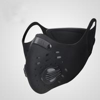 Wholesale- Máscara de ciclismo de 5 colores ACTIVADO ACTIVADO Mascarillas contra la contaminación de polvo a prueba de polvo MTB Montaña Bicicleta deportes Ruta de ciclismo Máscaras de ciclismo FUERA DE CARA