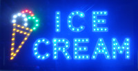 5 unids / lote LED Helado Tienda Abrir Signo Fabricación 10x19 pulgada semi-al aire libre ultra brillante corriendo signo LED
