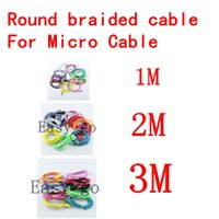 1m 2m 3m Braided round Micro USB Date Sync Charging Cable fo...