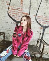 Autunno femminile New Fashion Personalità Appliques Cool Boyfriend Style Velvet Giacca Corto Cappotto Moto CasaCos Top SMLXL