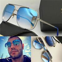 Neue Sonnenbrille 2010 Männer Design Metall Vintage Sonnenbrille Mode-Stil-Quadrat-Rahmen UV 400-Linse mit Fall