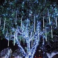 8pcs 50cm Blue White RGB Snowfall waterproof LED Meteor Show...
