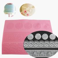 39.5 * 29.5cm Big Size Leaf stampo Zucchero silicone Lace Mat Border Pattern Design Cake cottura Strumenti di decorazione