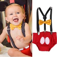 Newborn Infant New Arrival Baby Boy Girl Outfit Kids Bownot Pants Costume com banda de cabelo Presentes de aniversário Toddler Girls Boys Clothes