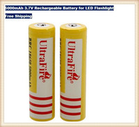 Ultrafire 18650 baterie 5000mAh 3,7 V Akumulator do LED Latarka Darmowa Wysyłka