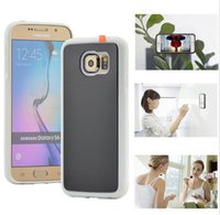 Para Iphone 7 Anti Gravity Succión Casos Nano Sticky Antigravity Adsorbido Volver Funda para el iphone 6 6s 7 plus 5 5s SE Samsung S7 S6 Edge