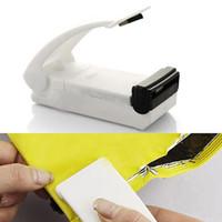 Mini Huishouden Batterij ABS Plastic en Metalen Verwarming Handdruk Afdichtingsmachine Vacuüm Voedsel Sealers BI-0011-WT
