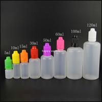 Botella de agujas de PE 5 ml 10 ml 15 ml 20 ml 30 ml 50 ml 60 ml 100 ml 120 ml Botellas cuentagotas de plástico A prueba de niños Capa de líquido e líquido a prueba de manipulaciones