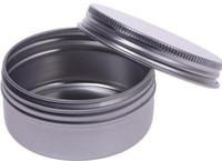 송료 무료 알루미늄 캡슐 10ml 찻잔 병 용기 10g 입욕제 립밤 광택있는 캔들 포장 용기 포함