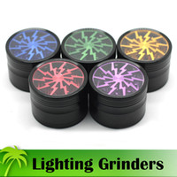 Lighting Grinders 63mm Tobacco Grinder 10 Sharp Tooth Herb S...