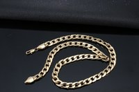 Neck chain men' s nk thick gold chain thick silver side ...