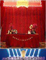 Высокое Качество 3x6m Элегантная Волна Волна Свадебные Занавесы Куропные Шарки Драпиры Для Свадьбы / Оформление вечеринки Бесплатная Доставка Myy