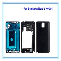 Nouveau boîtier de protection complet pour Samsung Galaxy Note 3 III SM-N900 SM-N9005 Cadre moyen avec boutons latéraux + boutons Accueil