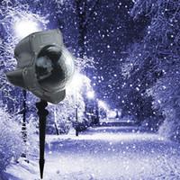 Sıcak Yeni Hareketli Köpüklü LED Kar Tanesi Peyzaj Lazer Projektör Duvar Lambası Noel Işık Beyaz Kar Köpüklü Peyzaj Projektör Işıkları