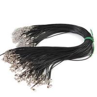 """18 """"cordas de couro preto com fecho da lagosta cordão cordão de couro cadeias de colar diy acessório de jóias"""